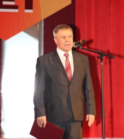 Поздравление председателя Свердловского обкома ГМПР В.Н. Кускова.