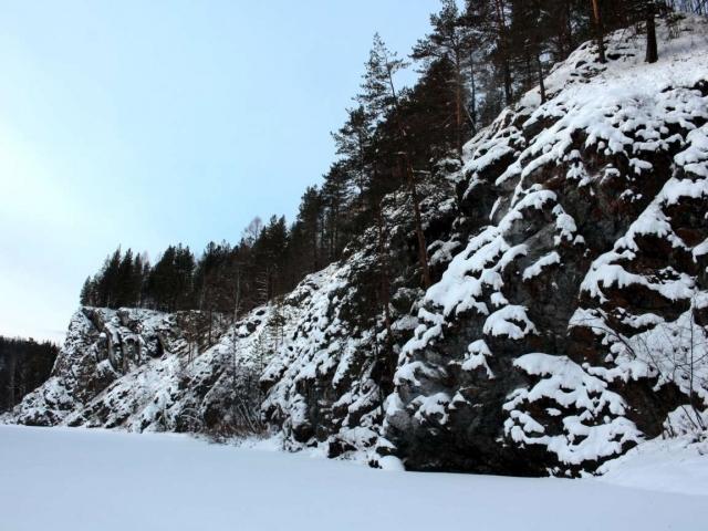 Прогулка в район скалы Синие камни (январь)