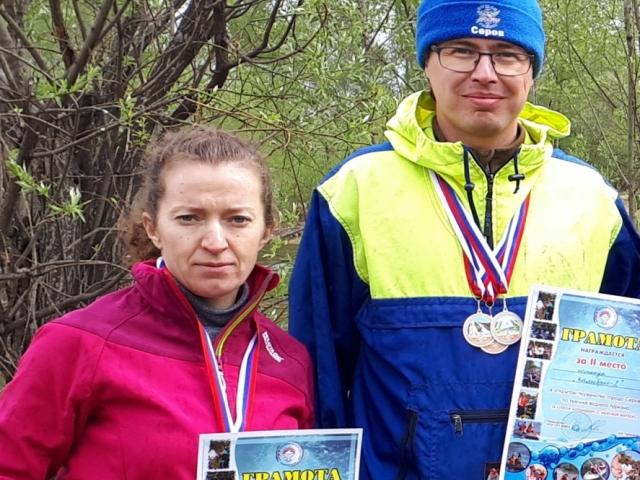 Юлия Перминова и Максим Сиразеев с наградами.